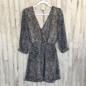 Bar III leopard print dress size small